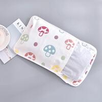 婴儿枕头夏季荞麦枕宝宝纱布枕巾枕套初生儿防偏头定型枕