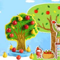 儿童早教数数乐玩具儿童木质磁性苹果树宝宝数数游戏快乐果园