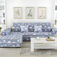 夏季简约水洗棉布艺沙发垫四季通用客厅防滑全盖靠背罩巾沙发套