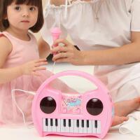 ?儿童电子琴玩具话筒音乐早教宝宝钢琴礼物?
