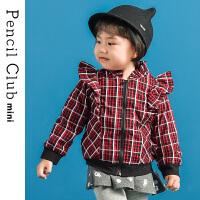 【3件价:54.9元】铅笔俱乐部童装女童加厚格子外套2019冬装新款小童宝宝衬衫