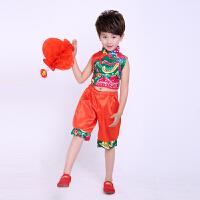六一�和�演出服男女童表演服�b幼��@秧歌服中��舞民族舞蹈服夏季
