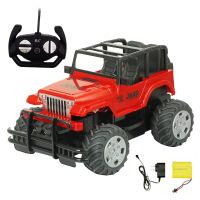 可充电摇控车越野车方向盘儿童玩具汽车漂移电动男生玩具 充电版越野款 手柄遥控