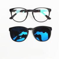 2018新款磁吸近视太阳镜夹片式男女偏光镜司机驾驶套镜复古潮墨镜眼镜框架