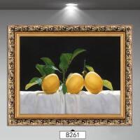 欧式餐厅墙面装饰画现代简约饭厅油画家居装饰品创意壁画静物水果 装好框50*60厘米单幅价 环保木质框+画,已装裱