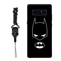 三星NOTE8 5samsung A8 A9手机壳漫威复仇者联盟钢铁侠男款潮牌黑 A8 黑底蝙蝠侠头