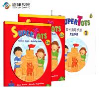 Super tots 1A1B学生书+一本家长手册 原装进口培生朗文幼儿英文英语早教启蒙教材 幼儿园英语初级入门3-6岁儿童外语提升课本