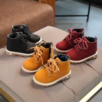 婴儿马丁靴1-2-3一岁男女宝宝马丁靴婴儿软底秋冬季皮鞋小童靴子学步鞋棉鞋 TBP