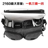 国家地理摄影包2140/2160 单肩斜挎单反相机包微单包2346 炭黑色加大号2160 送防雨罩