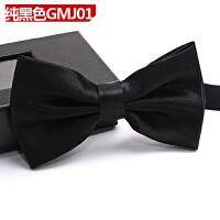 英伦新郎结婚领结伴郎正装婚礼黑色韩版衬衫蝴蝶结领结男盒装