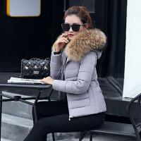 2018秋季新款冬装大毛领棉衣女装韩版短款小棉袄加厚羽绒外套yly 2X