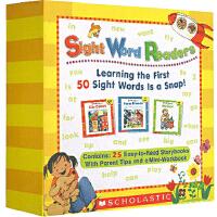 【拼团价¥75】Sight Word Readers Boxed Set 高频词 常见字 儿童英文绘本 25册套装 视觉词读本