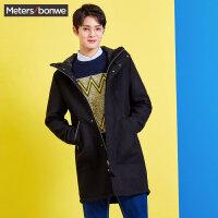 【1件3折到手价:163.77】美特斯邦威春装新款羊毛大衣男休闲中长毛呢外套韩版商场款