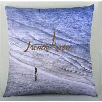 蒙马特大街艺术抱枕沙发靠垫欧美创意布艺靠枕包邮艺术家私人订制
