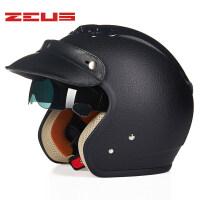 摩托车头盔男女士电动车复古半覆式夏季四季通用半盔
