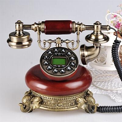 时尚创意旋转仿古电话机欧式老式复古电话机家用办公固话座机  购好货上京东!