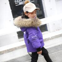 童装2018新款儿童羽绒服男童女童中长款中小童宝宝冬装加厚外套潮