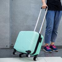 可爱拉杆箱女18寸登机箱学生旅行箱斜十字行李箱万向轮迷你密码箱 薄荷绿 (斜十字)单箱