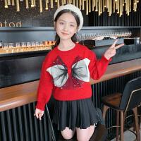 女童毛衣秋装女孩圆领套头打底衫秋季儿童针织衫