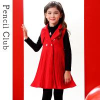 【3件价:117.9元】铅笔俱乐部童装2019秋冬装女童外套中大童中长款外套儿童毛呢外套