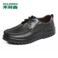 木林森男鞋2018秋季新款商务休闲鞋 87053135