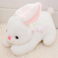 可爱小白兔毛绒玩具兔子公仔娃娃趴趴玩偶女孩生日礼物新品抓机