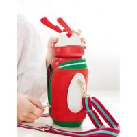 Face儿童保温杯子带吸管男女可爱不锈钢幼儿园宝宝小学生便携水壶
