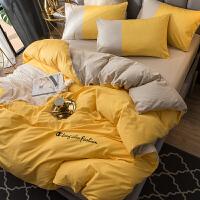 单人被子枕头床单一套全棉四件套纯色男士纯棉床单学生宿舍三件套酒店被套床笠床上用品