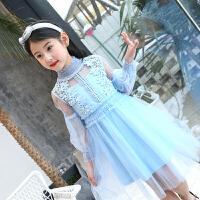 女童春装连衣裙新款韩版儿童装中大童女孩春夏洋气公主长裙子