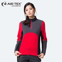 AIRTEX/亚特女士抓绒衣透气防风保暖锁温冲锋衣内胆加厚女款