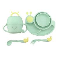 W�o食碗 �����o食碗��秸�餐�P幼��@卡通碗勺叉杯分格餐盒�和�餐具套�bO