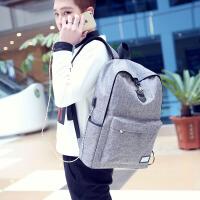 双肩包休闲旅行背包电脑包韩版大学生高中学生书包时尚潮流