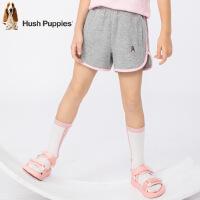 【3折价:59.7元】暇步士童装夏季新款女童短裤时尚撞色活力运动短裤儿童短裤