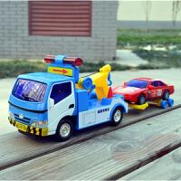 力利惯性工程车道路清障车拖车高速公路救援车儿童玩具车礼物