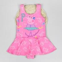 儿童连体泳衣小猪佩奇女小童裙式连体游泳衣8021