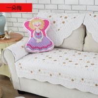 0715211607412四季全棉沙发垫布艺简约现代实木纯棉夏季皮沙发坐垫冬沙发套巾