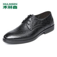 木林森男鞋 2018春夏新款男士正装商务系带皮鞋 05187014