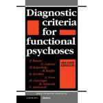 【预订】Diagnostic Criteria for Functional Psychoses 9780521423