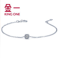金一钻石手链女款18度甜系列钻饰时尚简约18K金手链钻石 送女友 需定制