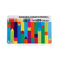 秘密花园涂色笔 日本 12色18色彩色塑料蜡笔 彩色蜡笔 24色精装