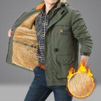 2018新款冲锋速干衣夹克男冬装户外休闲青年加绒男士外套男春秋款 086军绿 加绒