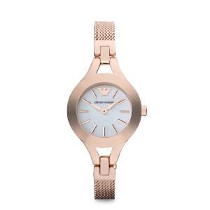 Armani阿玛尼正品女士潮流玫瑰金腕表 钢带小表盘石英手表AR7329