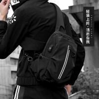 单肩包男士大容量胸包休闲户外运动韩版斜挎包新款潮流学生小背包