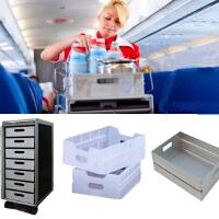 飞机厨房手推车酒水盒航空餐车铝抽屉塑料抽屉餐车收纳铝塑料盒