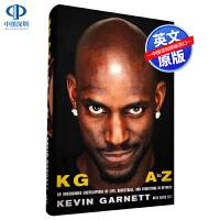 预售英文原版 凯文・加内特自传小说 KG: A to Z 精装 2020年篮球名人堂Kevin Garnett狼王 NB