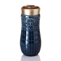 乾唐轩活瓷杯大富贵随身杯双层陶瓷水杯子办公商务