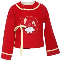 中国风汉服古风拍摄写真儿童女宝宝冬款套装上衣+下裙《喜,道喜》