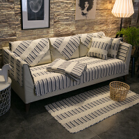 全棉布艺沙发垫四季通用简约现代客厅防滑全包盖�f能套罩巾坐垫子
