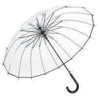 透明雨伞长柄自动伞加厚小清新个性学生创意男晴雨伞 透明黑