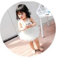女童泳衣连体小天使翅膀泳装 韩国婴儿游泳衣 公主宝宝0-1-2-3岁穿